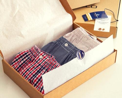 cajas para camisas y ropa interior