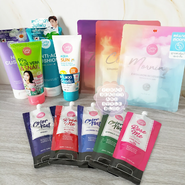 Cathy Doll Perfect Summer New Products for 2021! Soothing Gel, Color Tint Hair Treatment, Masks, and Body Sun Serum!