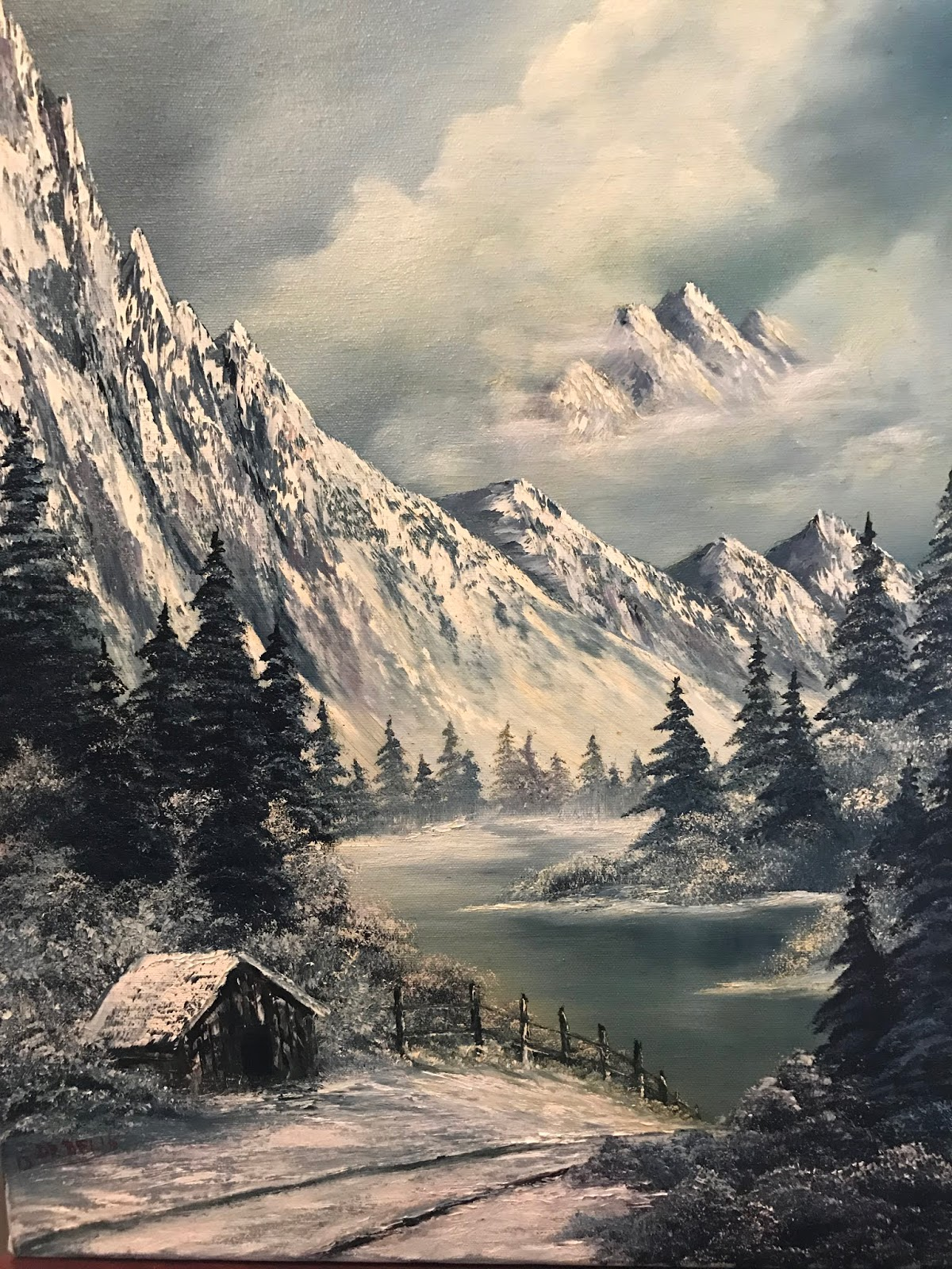 Bob ross painting classes hobby lobby