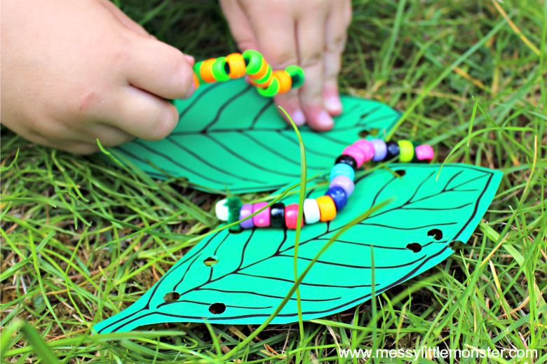 bead threading fine motor activity