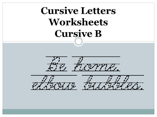 Cursive Letters Worksheets - Cursive B