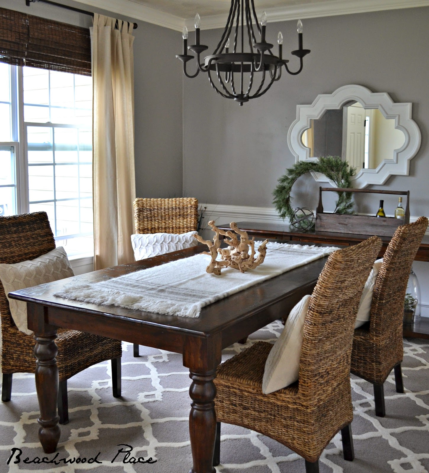 Dining Room Makeover: Avery Street Design Blog: Found & Foraged Link Party No