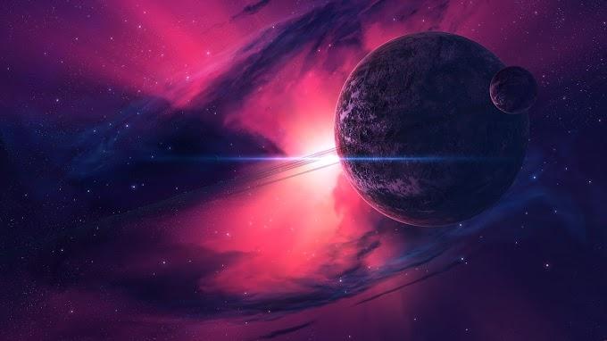 Papel de Parede Nebulosa e Planetas