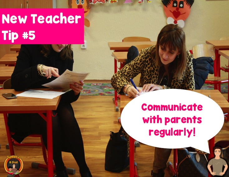 New teacher tip communicate with parents