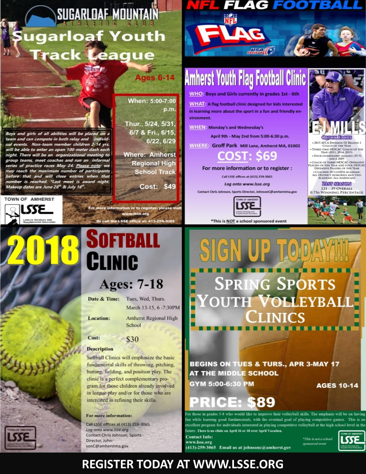 arms pgo lsse spring youth sports sign up summer camp fair