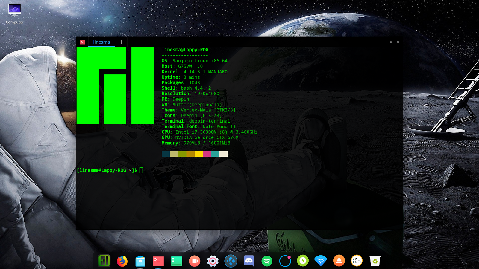 Manjaro and Deepin Desktop 15 5 - Elegance Redefined