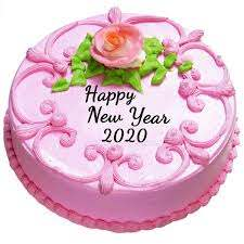 Happy New Year Cake with Quotes