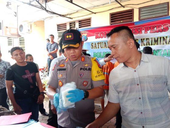 Pers rilis penamganan narkoba di wilayah hukum Polres Siantar.