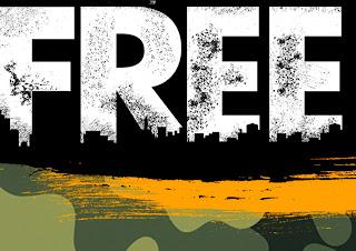 Free Fire: Fondo para Photo Call para Imprimir Gratis.