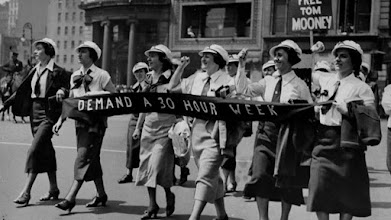 Female workers in Labor Day Parade, NYC, 1936. NY Daily News, Getty Images