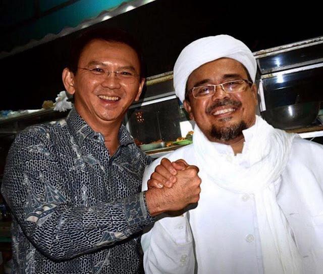 Foto Habib Rizieq Syihab Jabat Tangan Ahok Editan