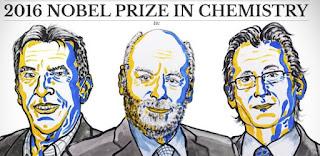 Prix Nobel de chimie 2016: Jean-Pierre Sauvage (France), J. Fraser Stoddart (Royaume-Uni) et Bernard L. Feringa (Pays-Bas)