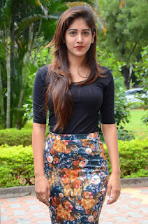 Beauitful Chandini Chowdary in Tight Black Top and Skirt