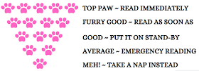 Amber's Book Review Paw Ratings Scale Pink ©BionicBasil®