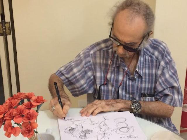 Desenhos inéditos de Mário Cravo em cartaz no Rio Vermelho