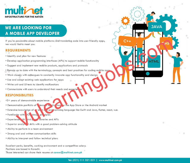 Multinet (Private) Limited Jobs 2020 For Training Manager, Manager, UI/UX Executive, Procurement Executive, HR Executive, Software Engineer Latest