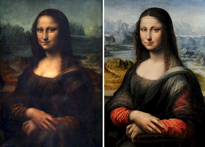 A comparison of the Louvre and Prado Mona Lisa portraits
