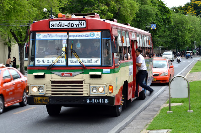 방콕의 버스