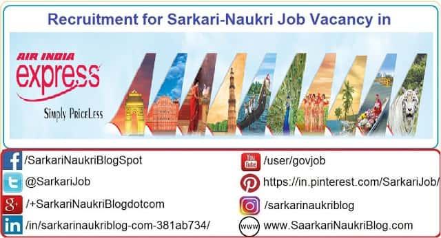 Naukri Vacancy Recruitment Air-India Express