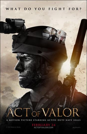 Act of Valor 2012 Dual Audio ORG Hindi 480p BluRay 400MB ESubs poster