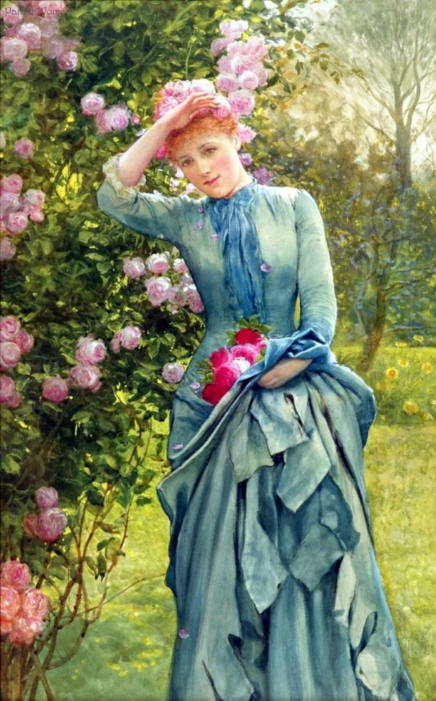 Едвард Киллингворт Джонсон Edward Killingworth Johnson Сбор красных роз