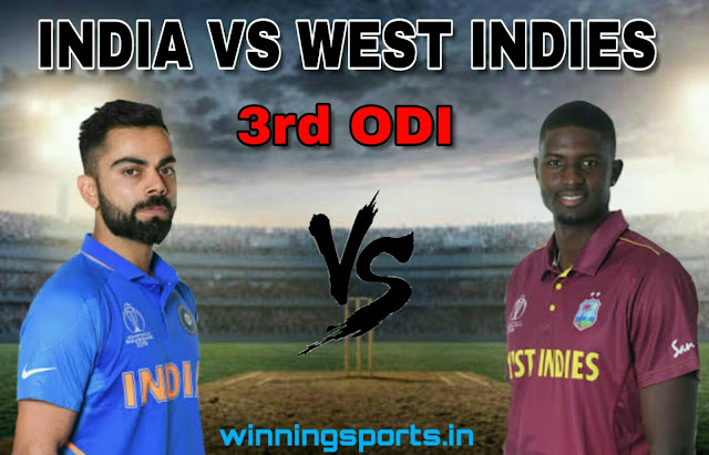 Dream11 team for India vs West Indies 3rd ODI Match | Fantasy cricket tips | Playing 11 | India vs West Indies dream11 Team | dream11 prediction |