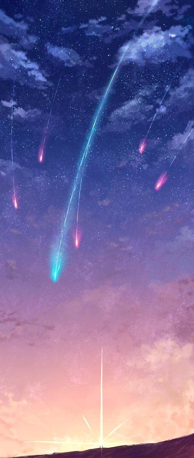 Starfall in the sky
