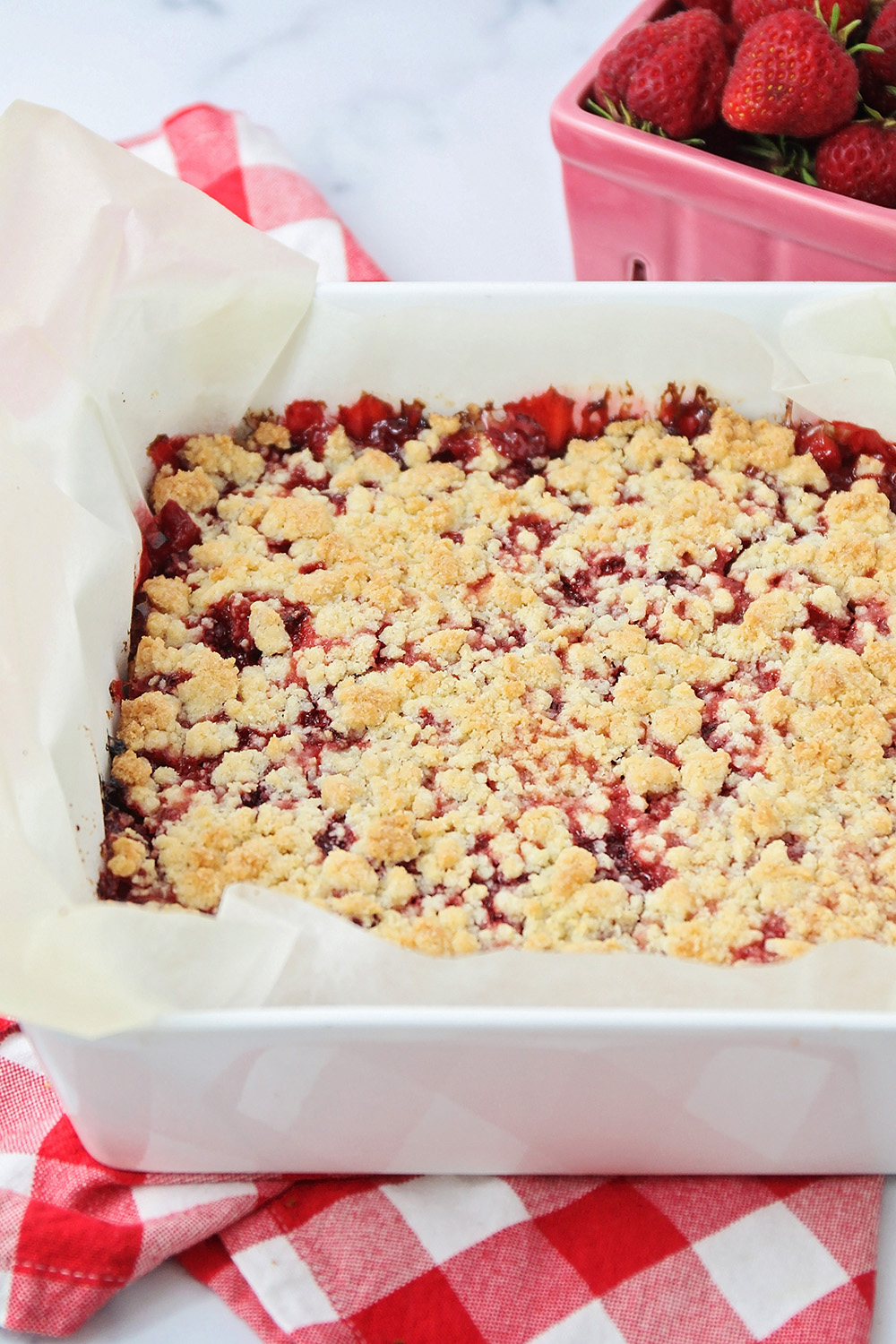 These delicious and easy to make strawberry crumb bars are the perfect summer dessert!