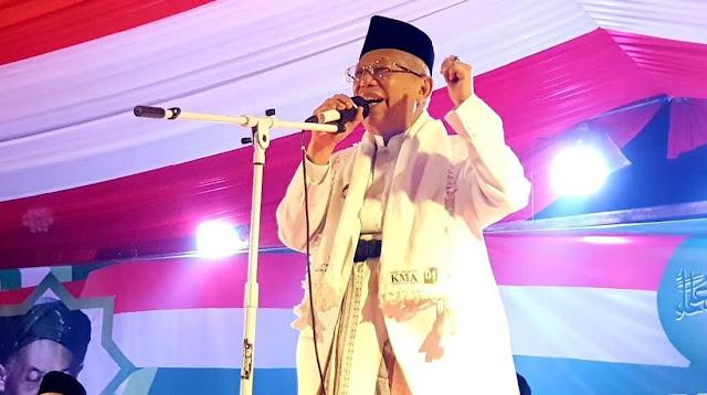 Ma'ruf Amin: Insya Allah Kemenangan Sudah di Depan Mata
