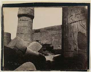 John Beasley Greene's 'Karnak. Hypostyle Hall. Northern Wall, Interior. No. 3' (1854) PHOTO: MUSEE D'ORSAY