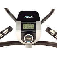 "Smart Resistance Knob & large 3.5"" LCD screen, console, image, on ProGear 9900 HIIT Stepper Elliptical Trainer"