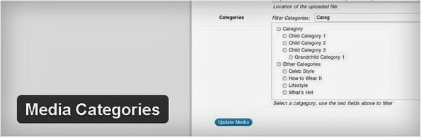 Media Categories WordPress plugin