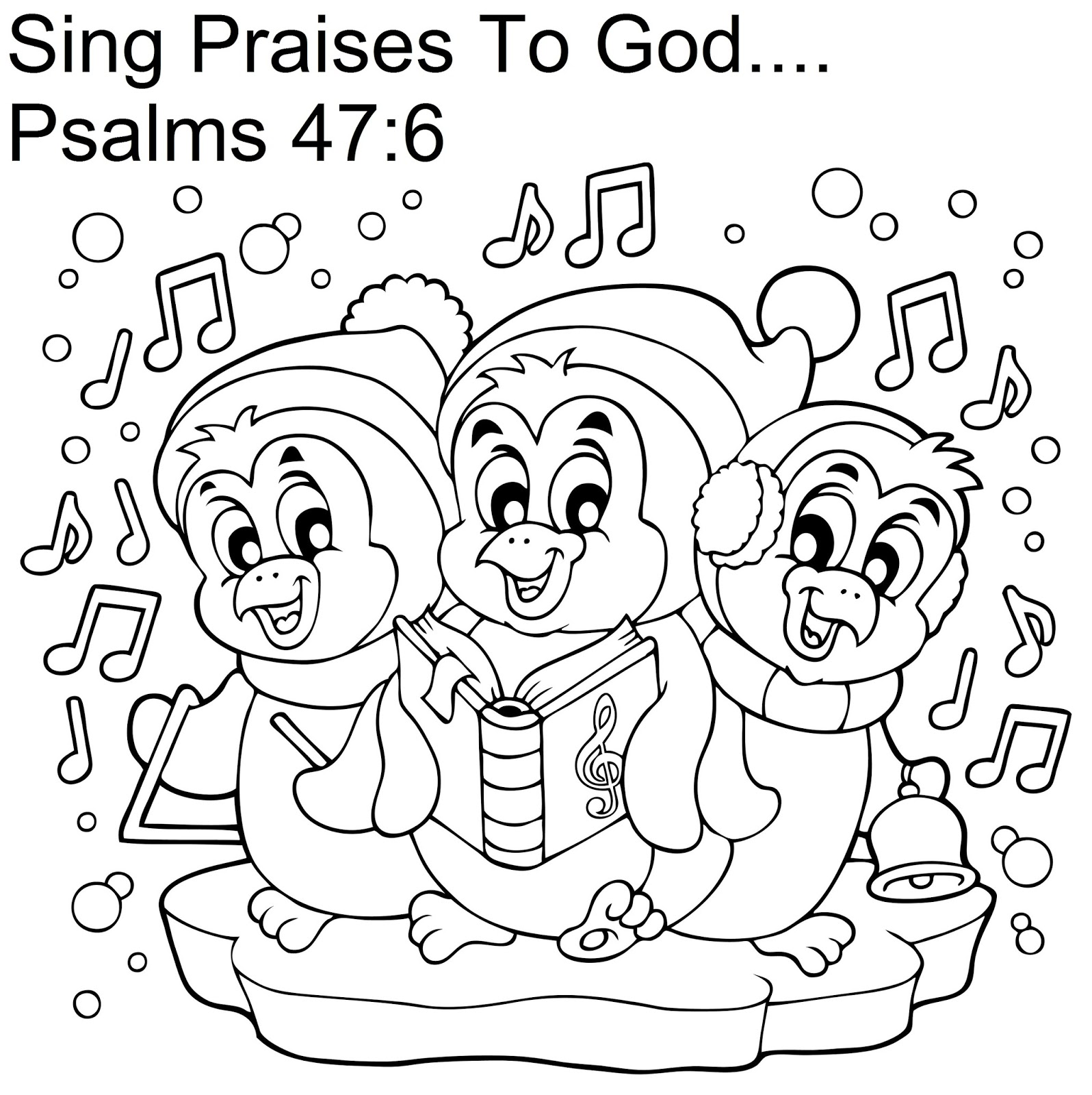 christmas coloring pages for childrens church | Church House Collection Blog: Christmas Penguin Pop Up ...