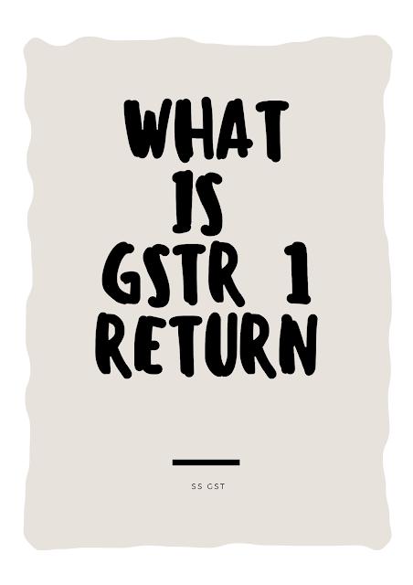 GSTR 1 RETURN