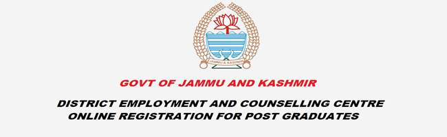J&K Unemployed PG Youth Online Registration