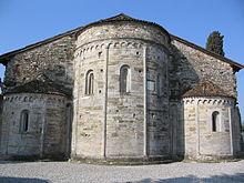 The remaining apse of the former Basilica di Santa Giulia