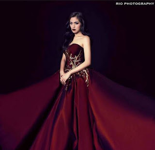 Foto Princess Jessica Iskandar Gambar Artis Cantik Indonesia Lady in Red
