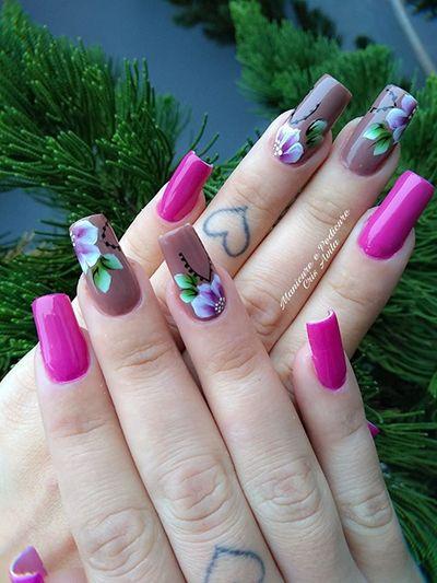 unhas decoradas rosa 2
