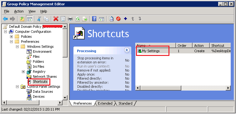 Event ID 4098 - Group Policy Shortcut error -Fix/Solution