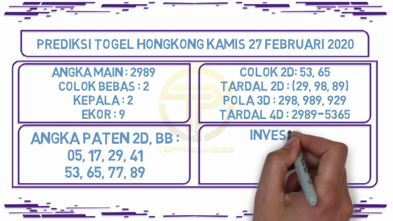 Prediksi Togel JP Hongkong 27 Februari 2020 - Prediksi Togel JP
