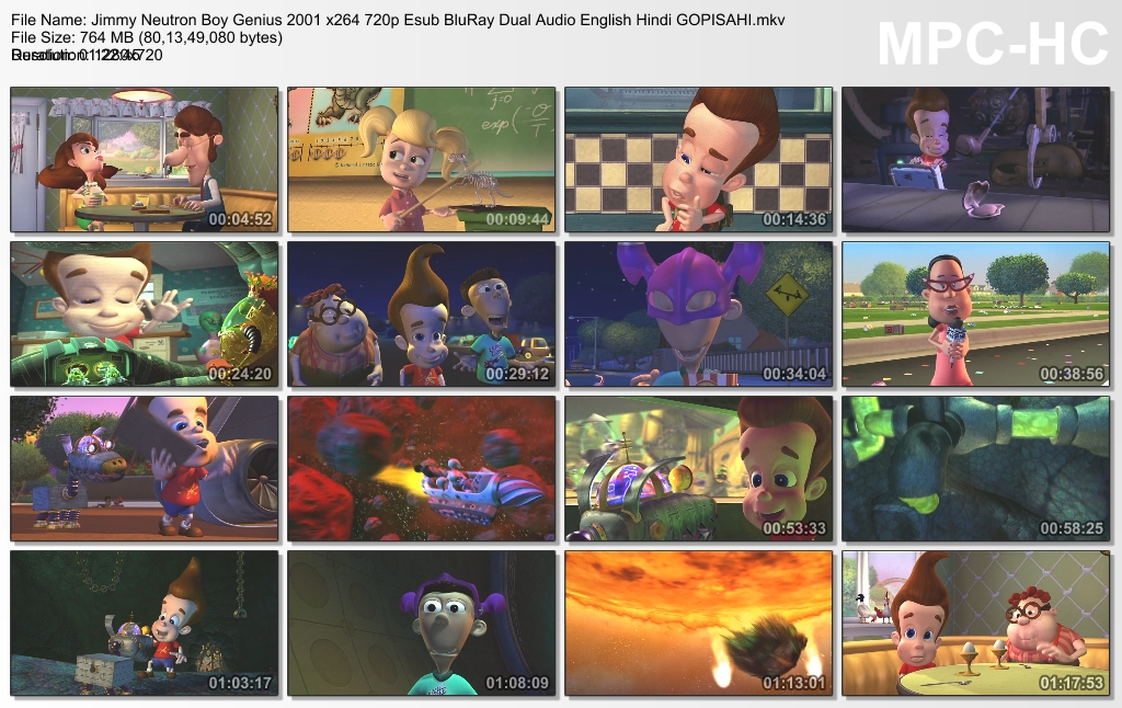 jimmy neutron boy genius 2001 dual audio