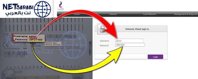 تحويل روتر zte الى access point