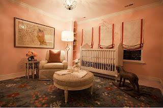 diseño cuarto rosa bebé