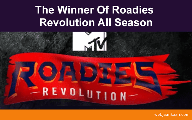 Who are the finalist of roadies revolution all seasons?