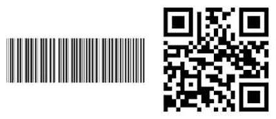 Untuk yang sebelah kiri itu adalah Barcode dan yang sebelah kanan adalah QR Code. QR Code memiliki fungsi yang lebih luas dibandingkan dengan barcode sehingga perusahaan sekelas WhatsApp pun menggunakan QR Code untuk hal ini.