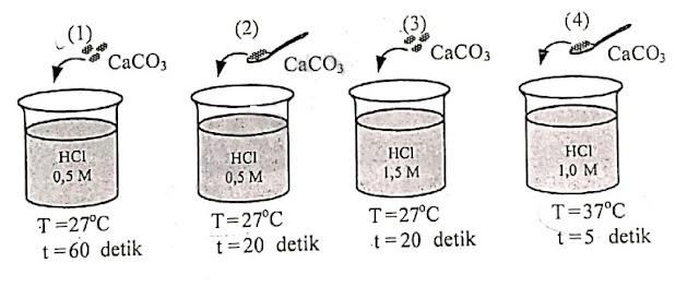 siswa melakukan percobaan faktor-faktor yang memengaruhi laju reaksi