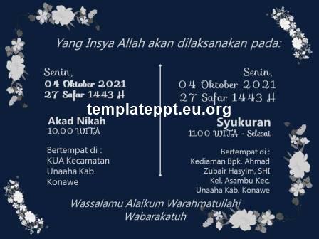 Slide 6 template power point undangan pernikahan islami gratis