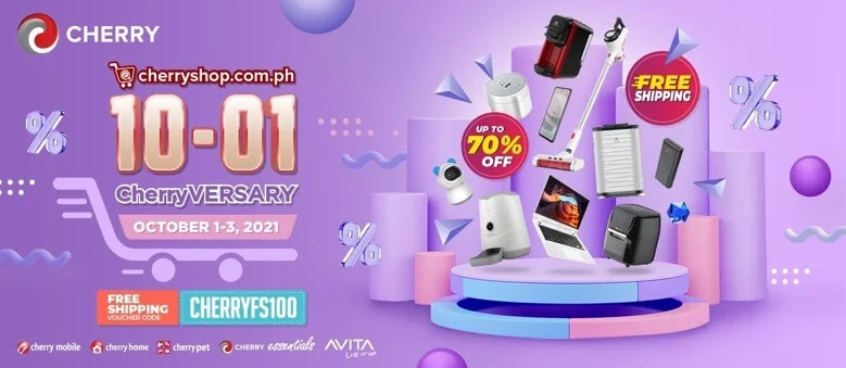 CHERRY SHOP Celebrates CHERRYVERSARY Sale with up to 70% Discount from October 1-3