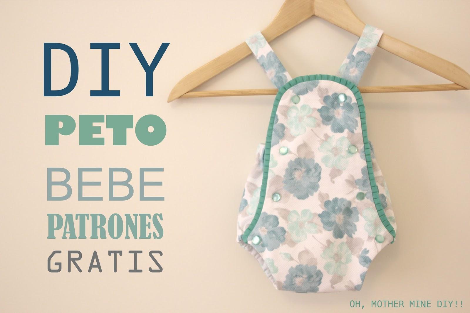 DIY Peto PELELE de bebe (patrones gratis) - HANDBOX
