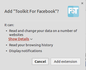 Add Toolkit for Facebook